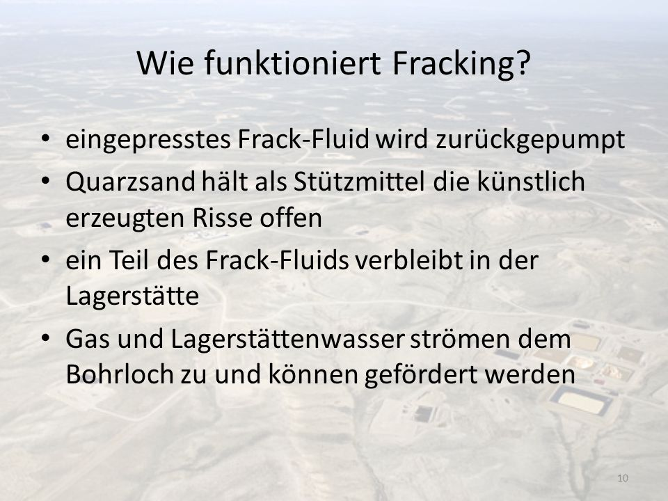 Wie funktioniert Fracking