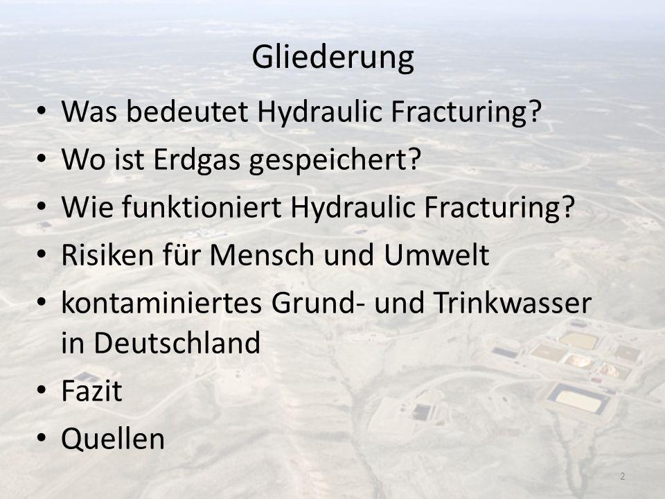 Gliederung Was bedeutet Hydraulic Fracturing