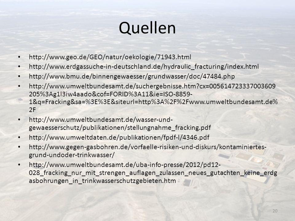 Quellen http://www.geo.de/GEO/natur/oekologie/71943.html