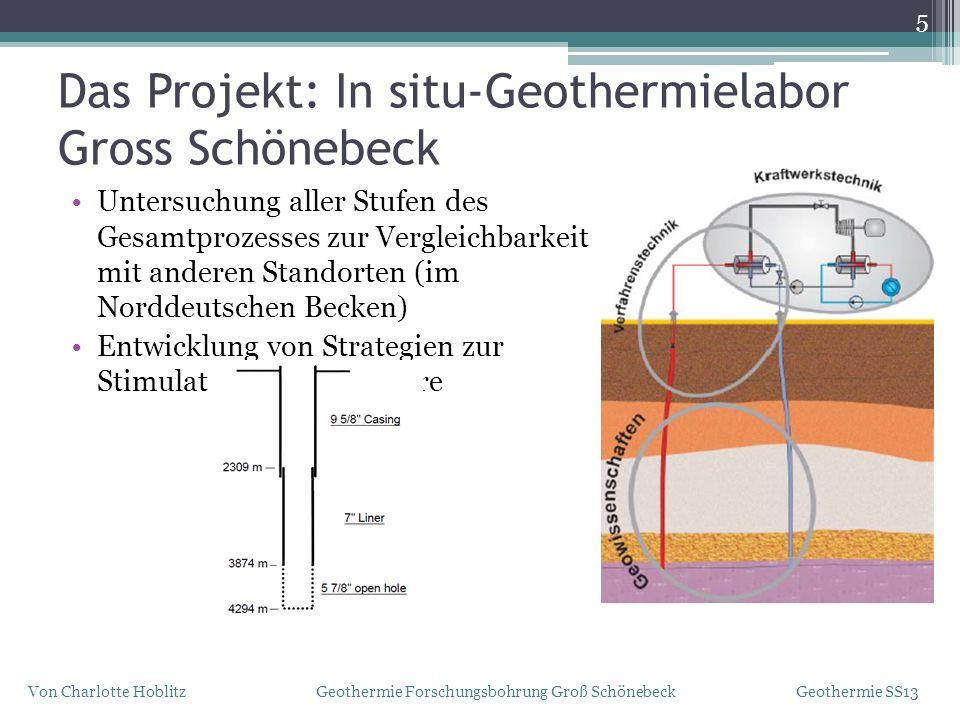 Das Projekt: In situ-Geothermielabor Gross Schönebeck