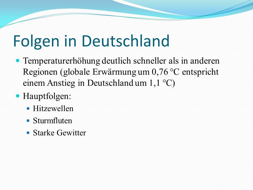 Folgen in Deutschland