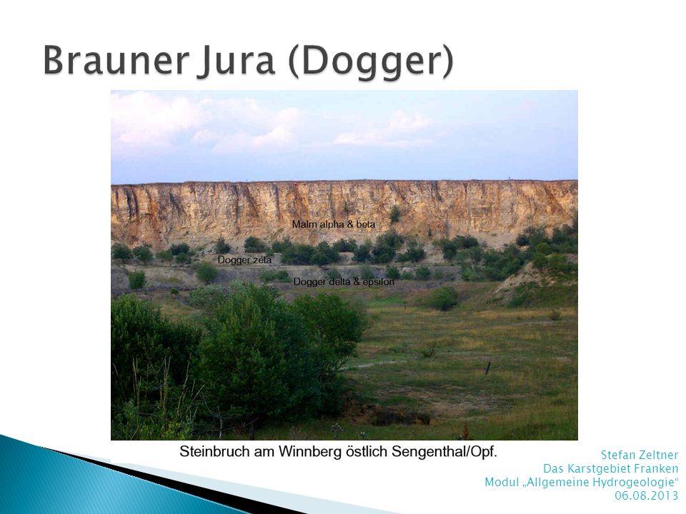 Brauner Jura (Dogger) Stefan Zeltner Das Karstgebiet Franken