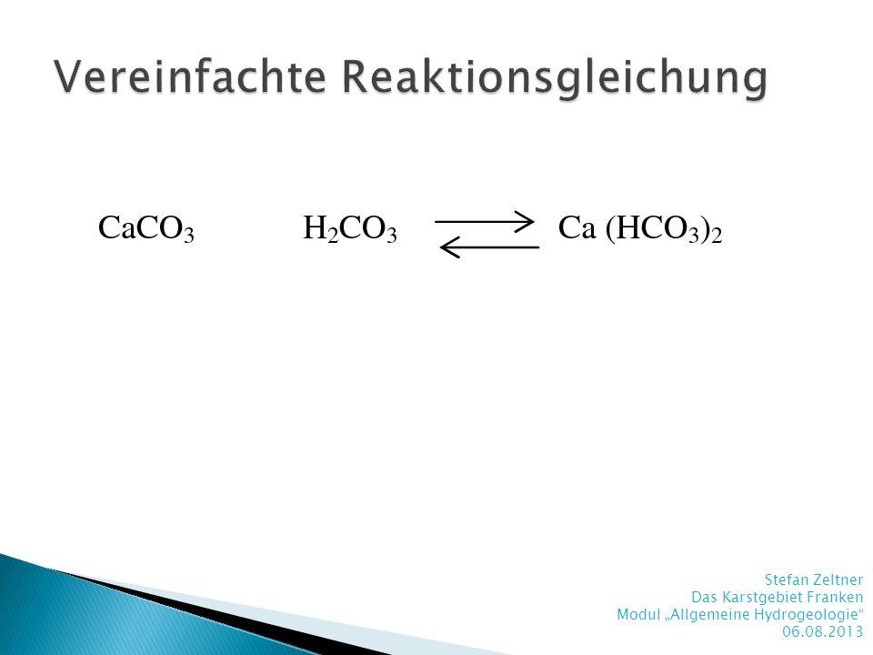 Vereinfachte Reaktionsgleichung