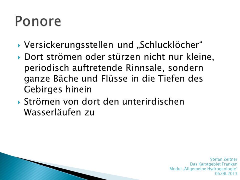 """Ponore Versickerungsstellen und """"Schlucklöcher"""