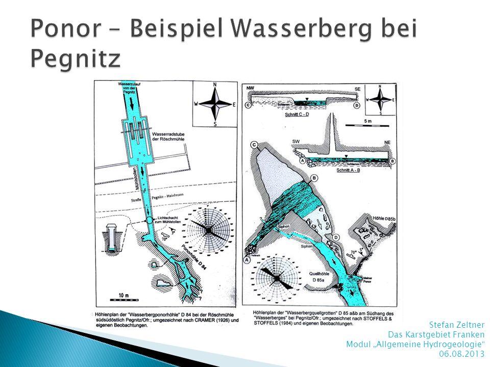 Ponor – Beispiel Wasserberg bei Pegnitz