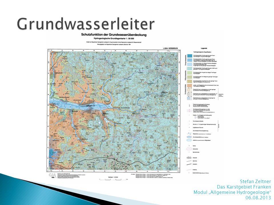 Grundwasserleiter Stefan Zeltner Das Karstgebiet Franken