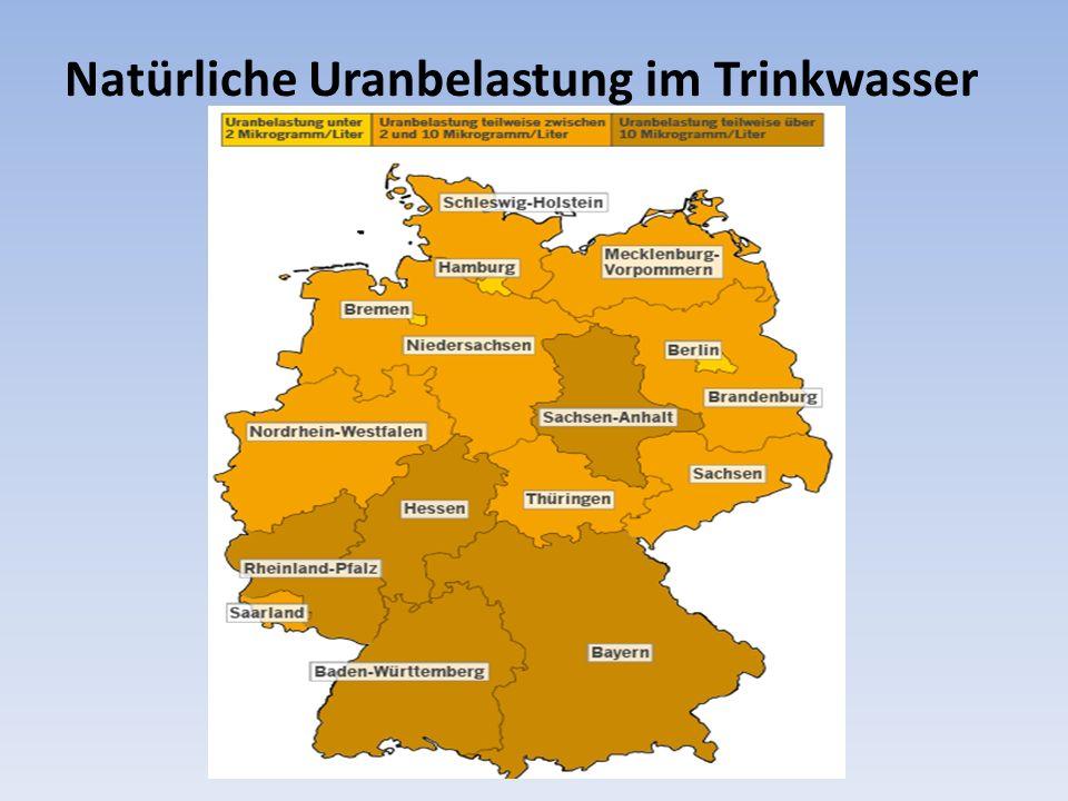Natürliche Uranbelastung im Trinkwasser