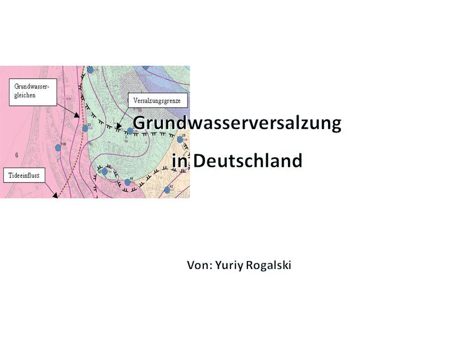 Grundwasserversalzung
