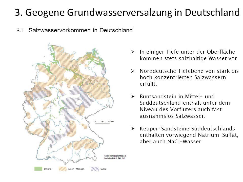 3. Geogene Grundwasserversalzung in Deutschland