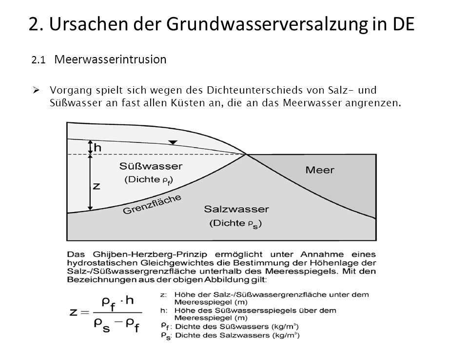 2. Ursachen der Grundwasserversalzung in DE