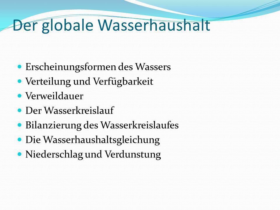 Der globale Wasserhaushalt