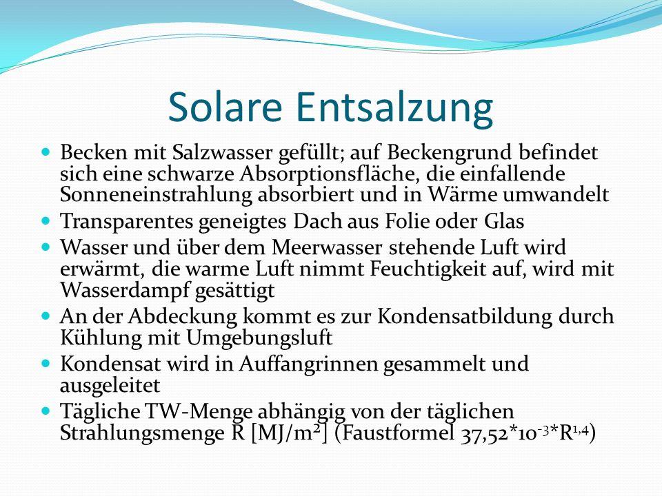 Solare Entsalzung