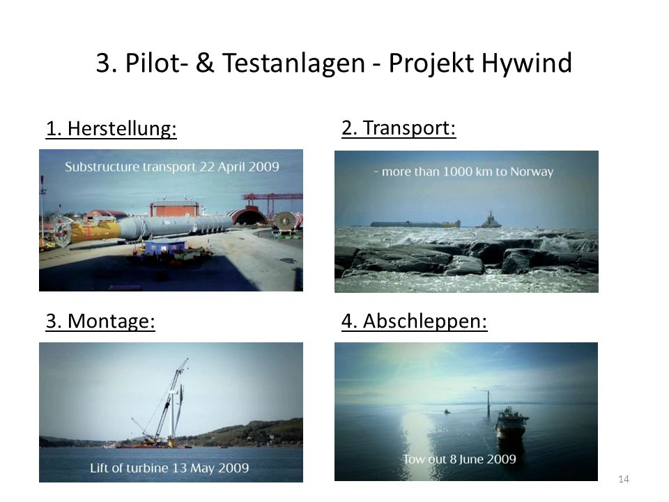 3. Pilot- & Testanlagen - Projekt Hywind