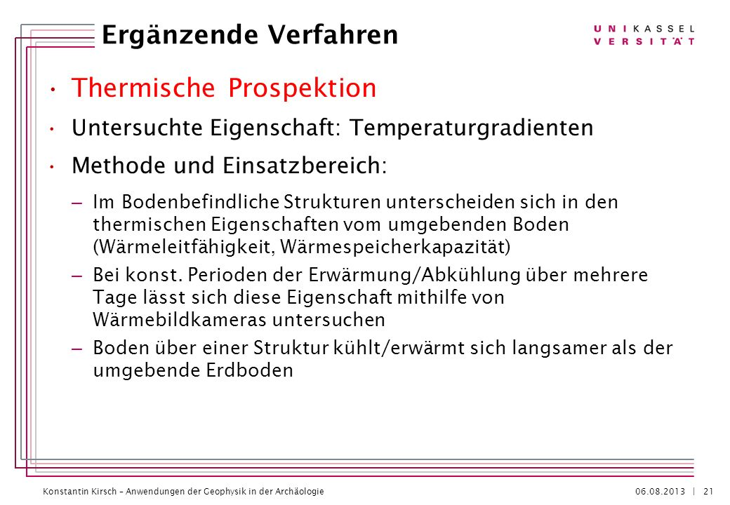 Thermische Prospektion