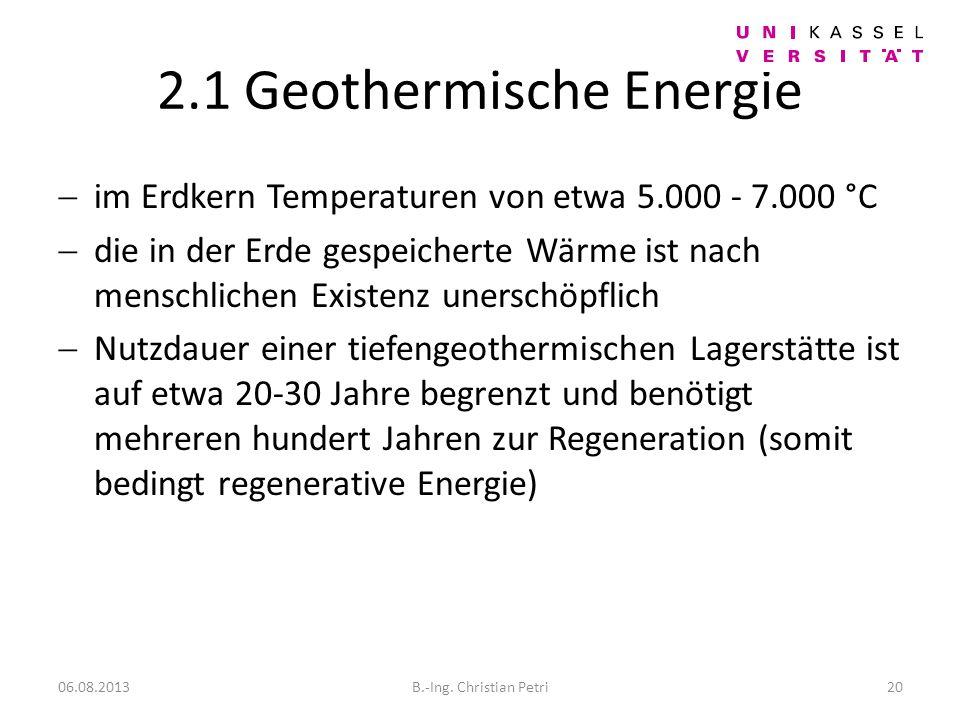 2.1 Geothermische Energie