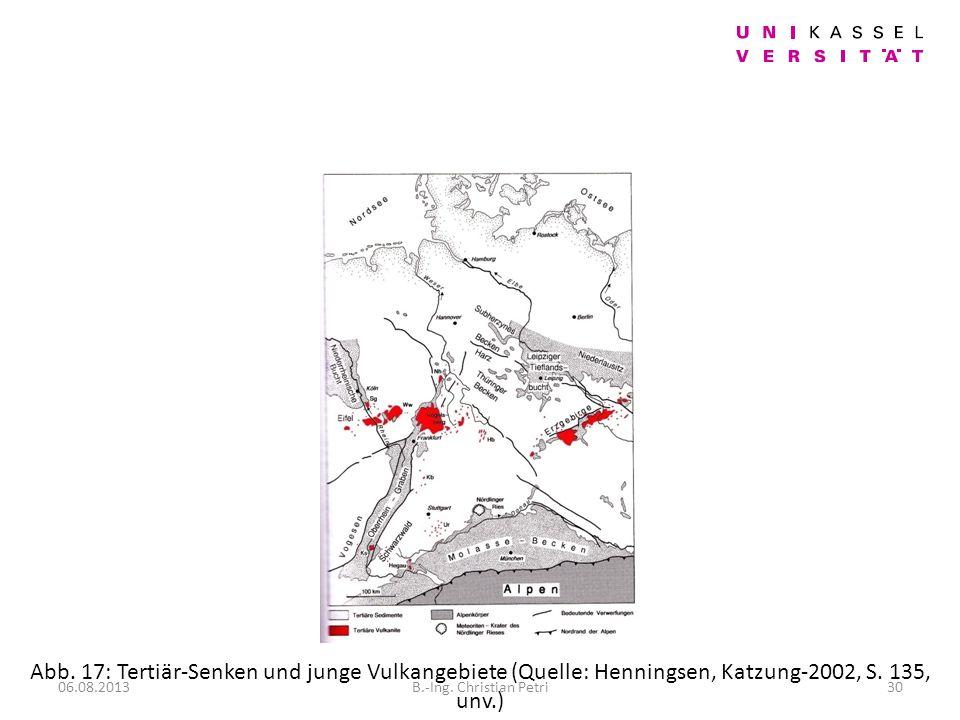 Abb. 17: Tertiär-Senken und junge Vulkangebiete (Quelle: Henningsen, Katzung-2002, S. 135, unv.)