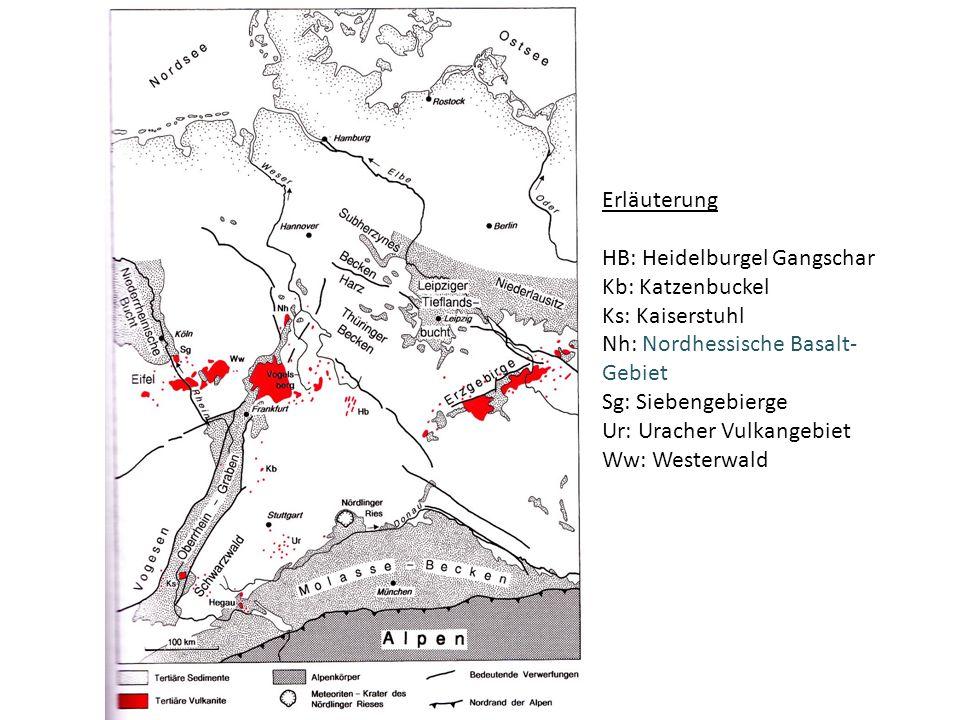 Erläuterung HB: Heidelburgel Gangschar. Kb: Katzenbuckel. Ks: Kaiserstuhl. Nh: Nordhessische Basalt-Gebiet.