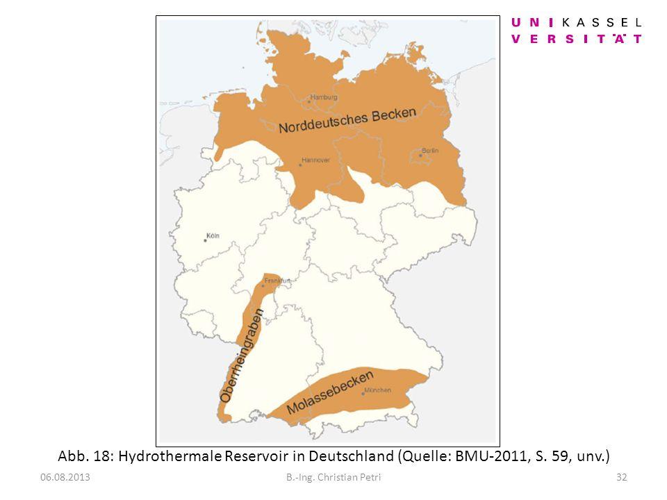 Vorwiegende Hydrothermale Systeme in Deutschland