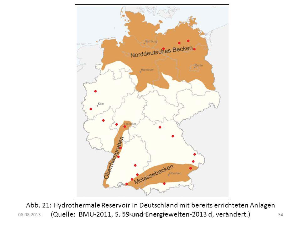 (Quelle: BMU-2011, S. 59 und Energiewelten-2013 d, verändert.)