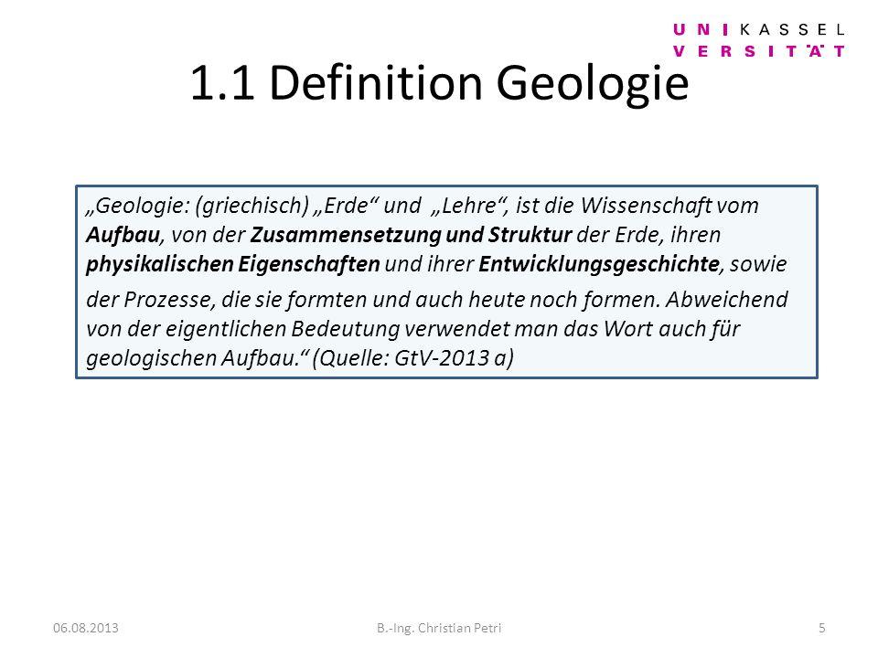 1.1 Definition Geologie