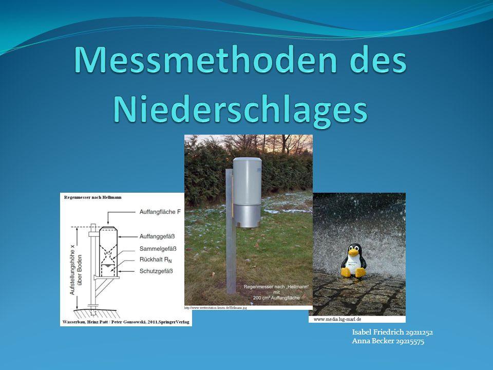 Messmethoden des Niederschlages