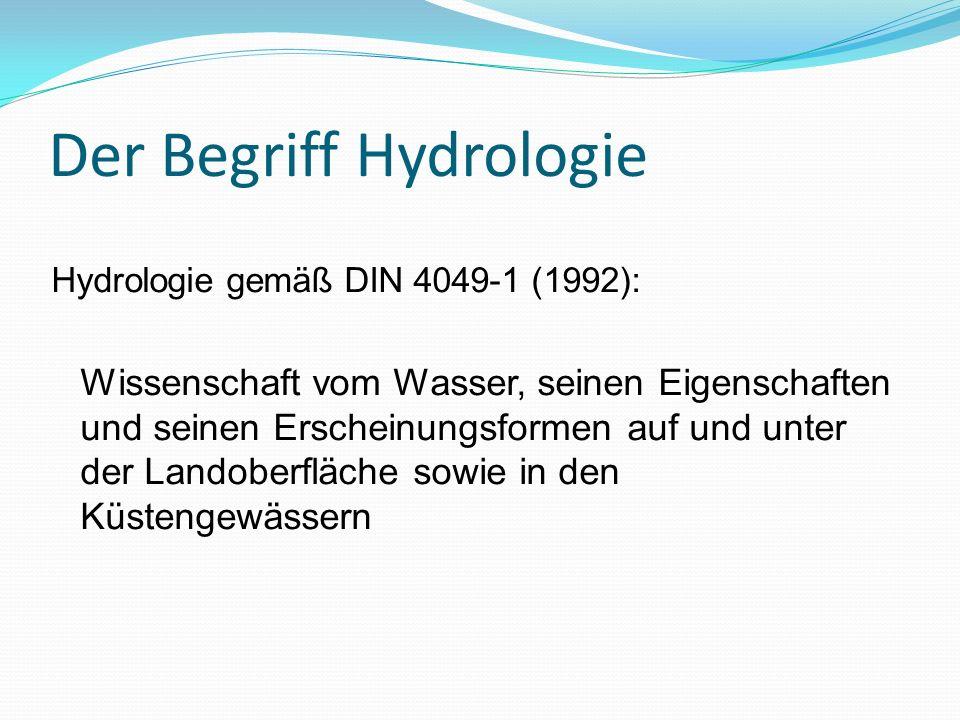 Der Begriff Hydrologie