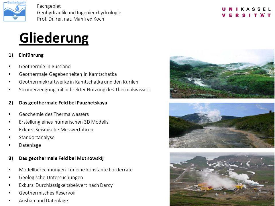 Gliederung Fachgebiet Geohydraulik und Ingenieurhydrologie