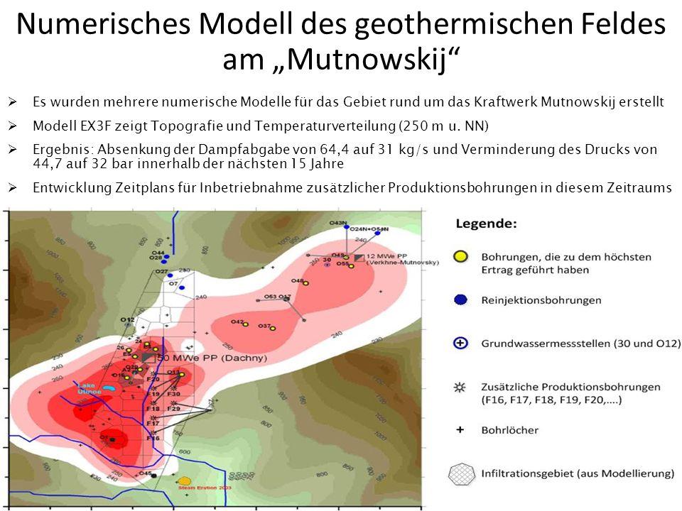 """Numerisches Modell des geothermischen Feldes am """"Mutnowskij"""