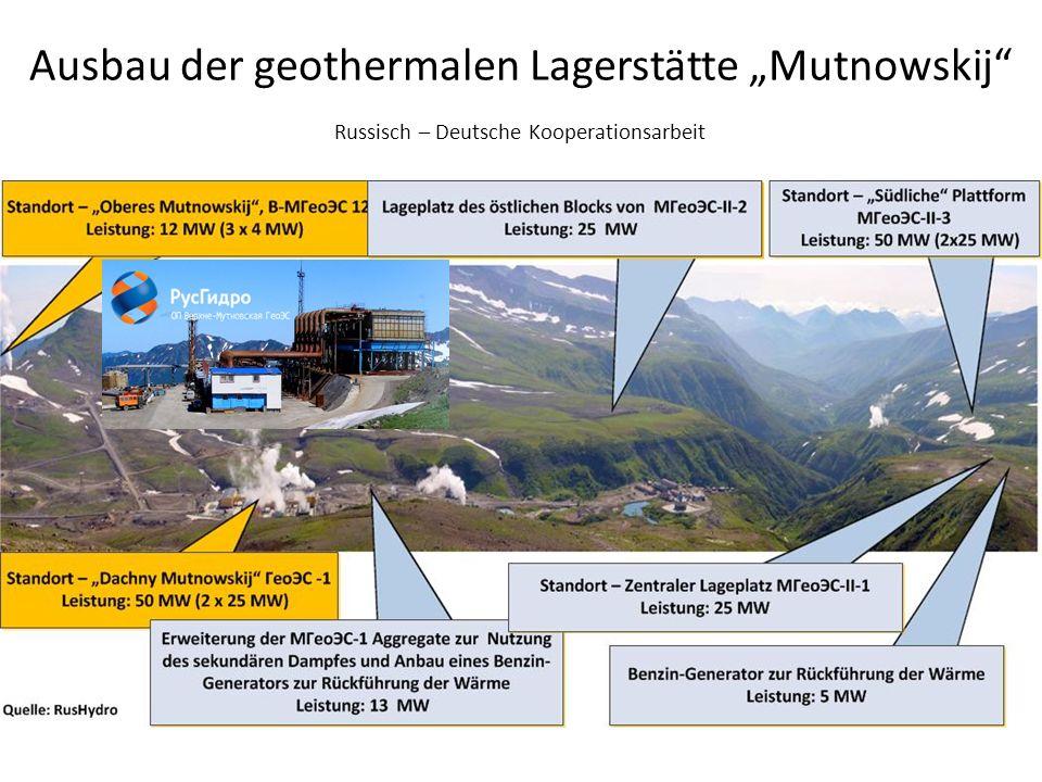 """Ausbau der geothermalen Lagerstätte """"Mutnowskij"""