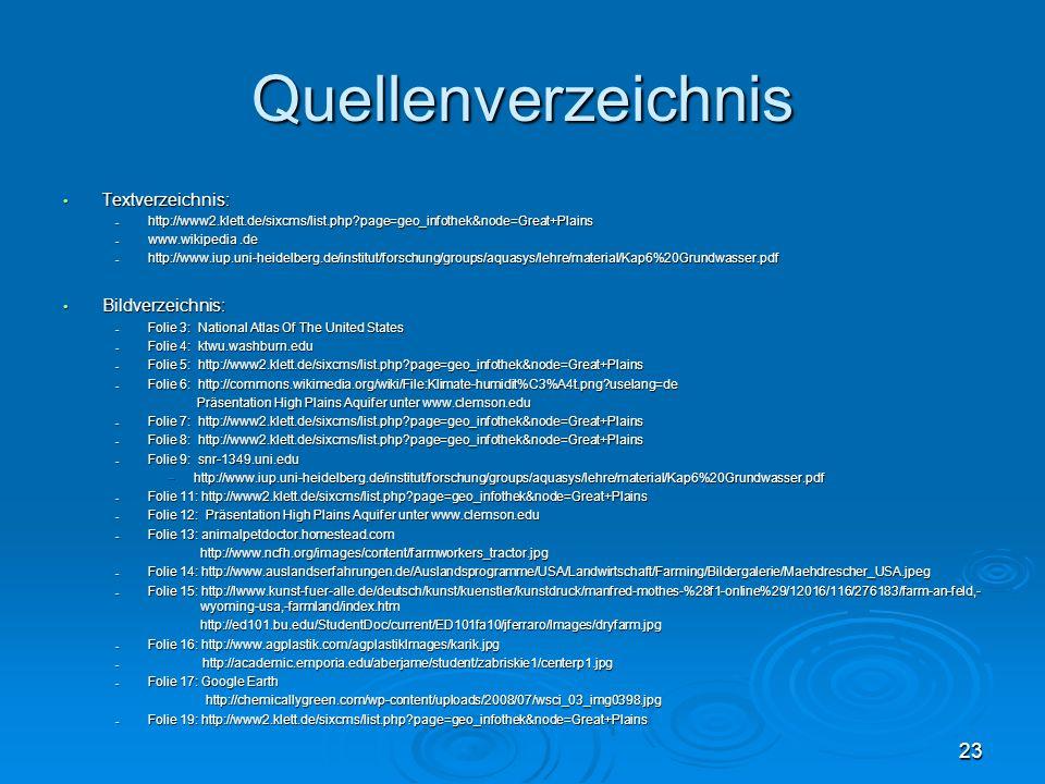 Quellenverzeichnis Textverzeichnis: Bildverzeichnis: