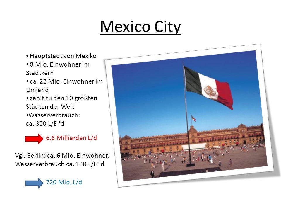 Mexico City Hauptstadt von Mexiko 8 Mio. Einwohner im Stadtkern