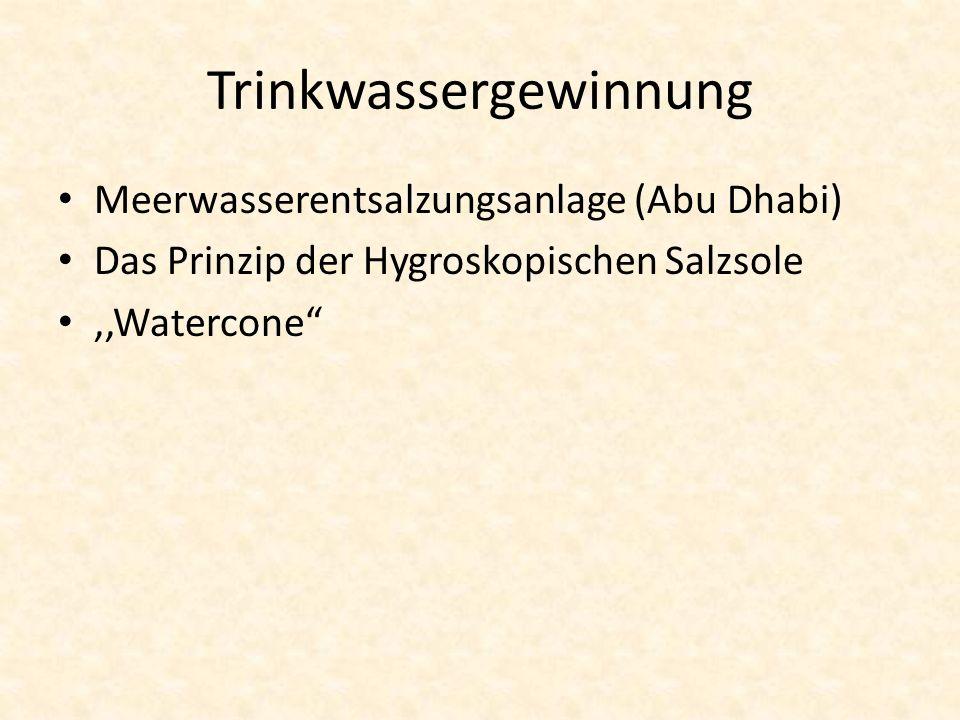 Trinkwassergewinnung