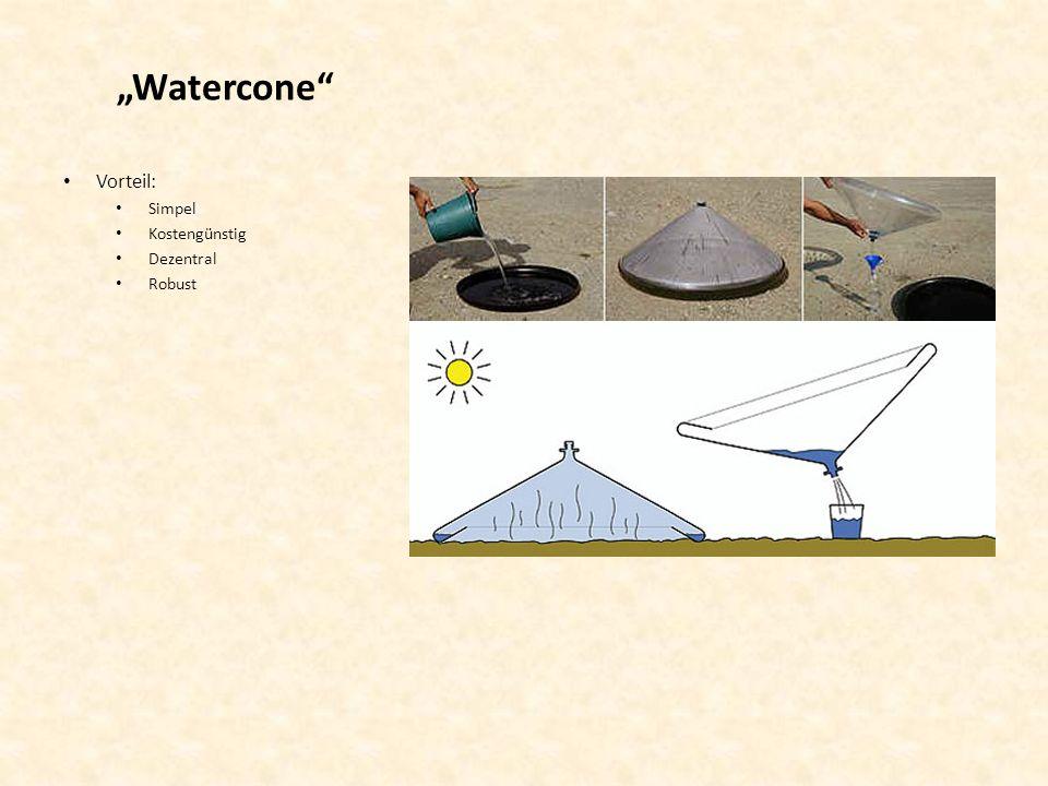 """""""Watercone Vorteil: Simpel Kostengünstig Dezentral Robust"""