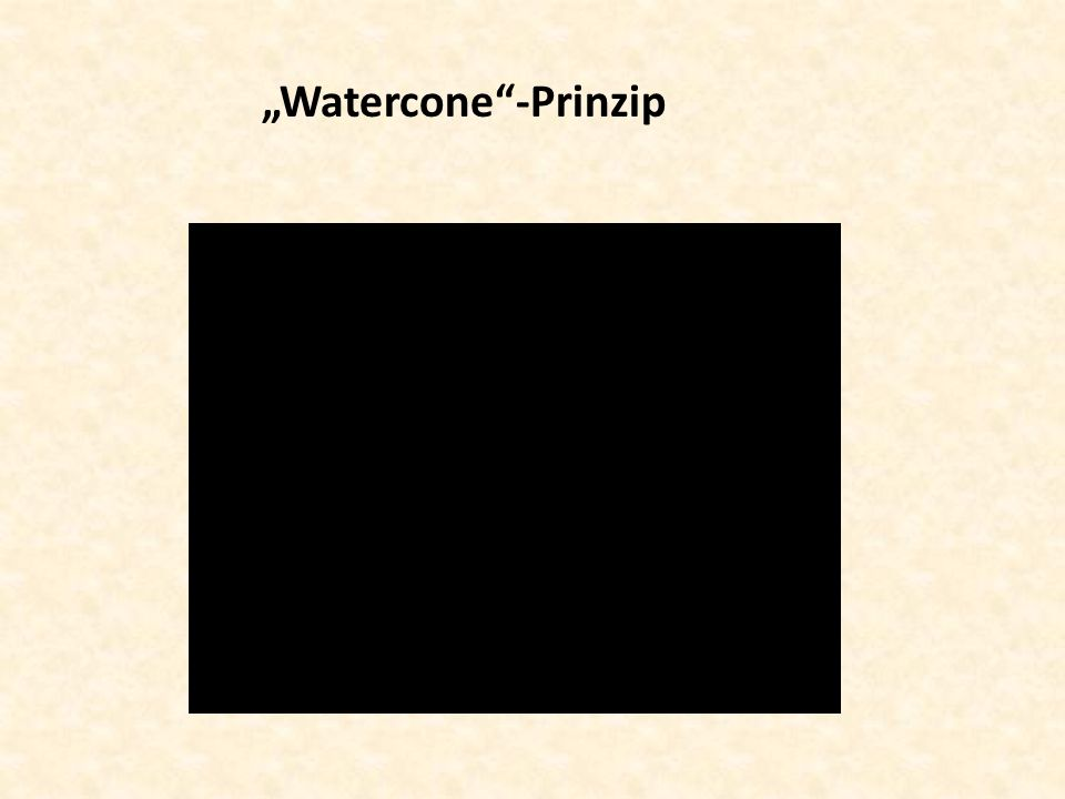 """Watercone -Prinzip"