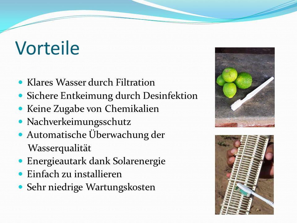 Vorteile Klares Wasser durch Filtration