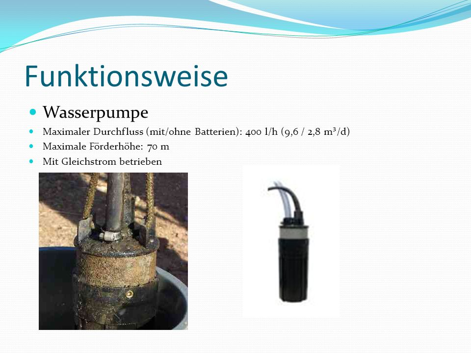Funktionsweise Wasserpumpe