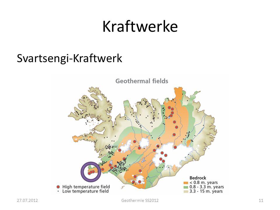 Kraftwerke Svartsengi-Kraftwerk 76,5 MW Strom 80 MW Wärme