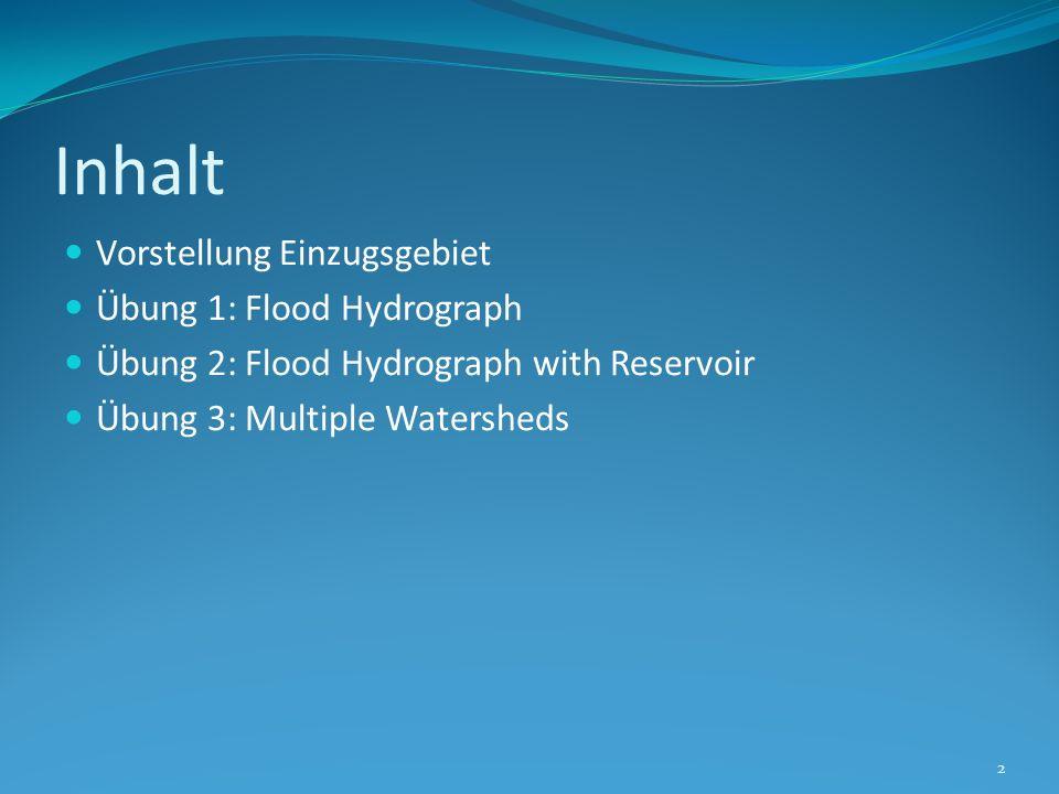Inhalt Vorstellung Einzugsgebiet Übung 1: Flood Hydrograph