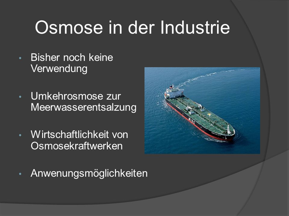 Osmose in der Industrie