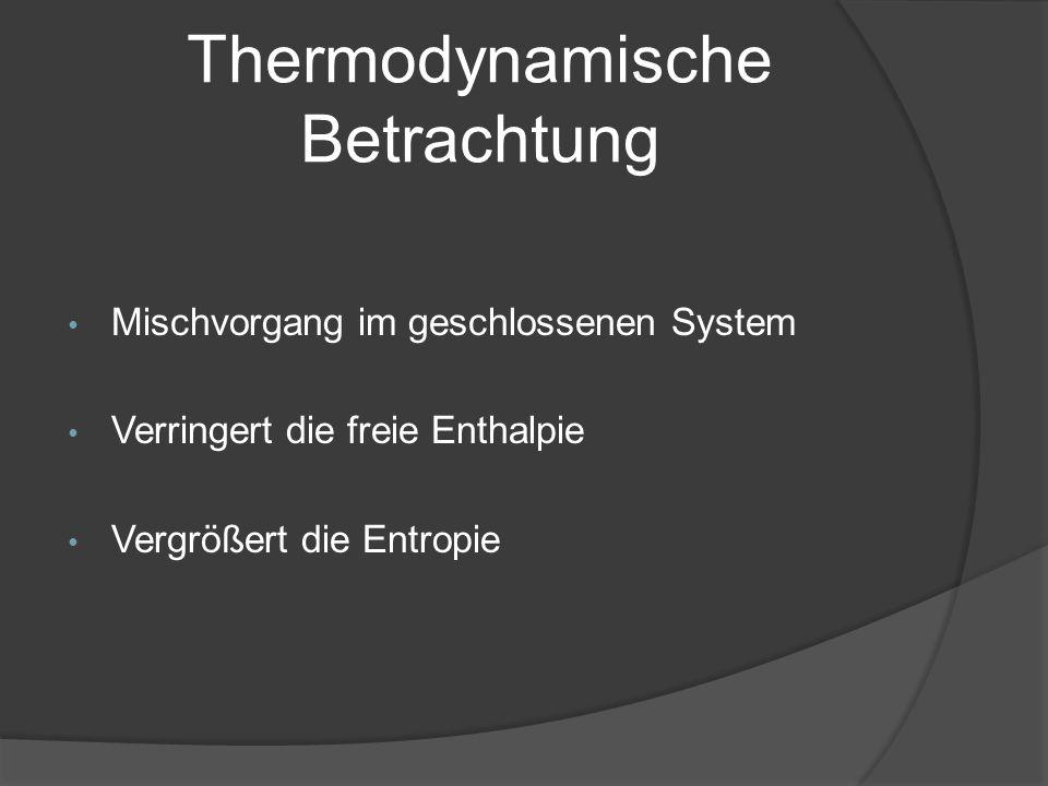 Thermodynamische Betrachtung
