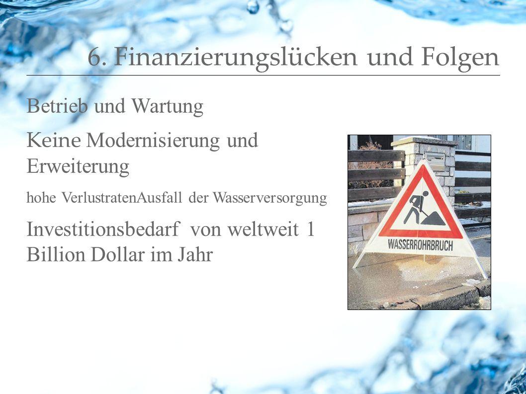 6. Finanzierungslücken und Folgen