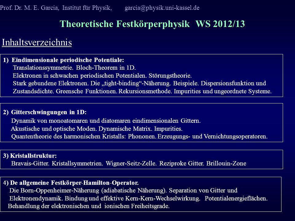 Theoretische Festkörperphysik WS 2012/13