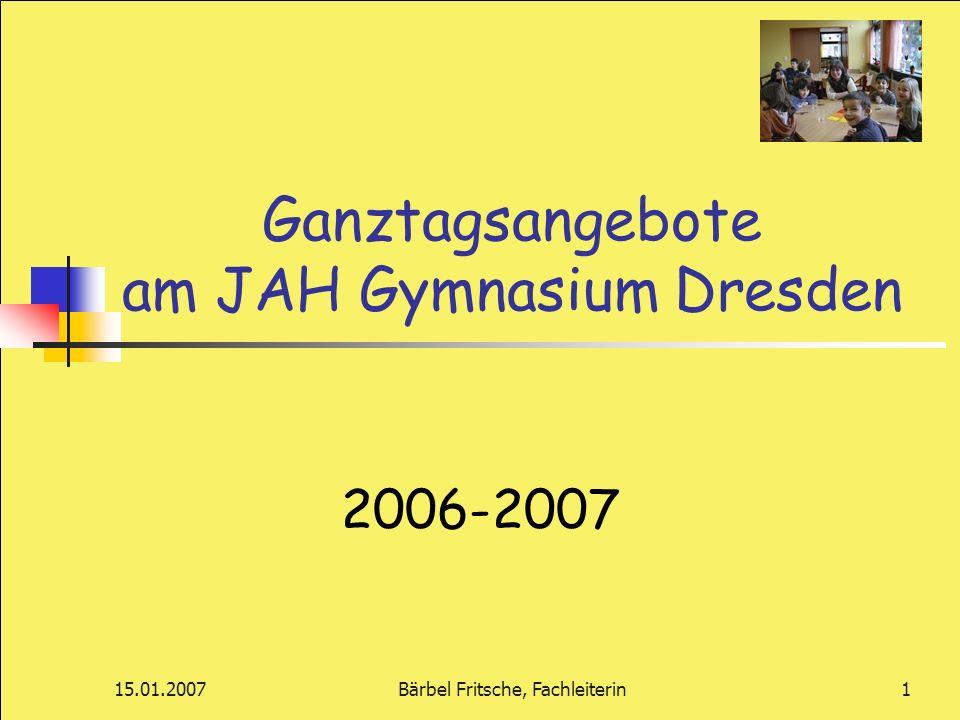 Ganztagsangebote am JAH Gymnasium Dresden