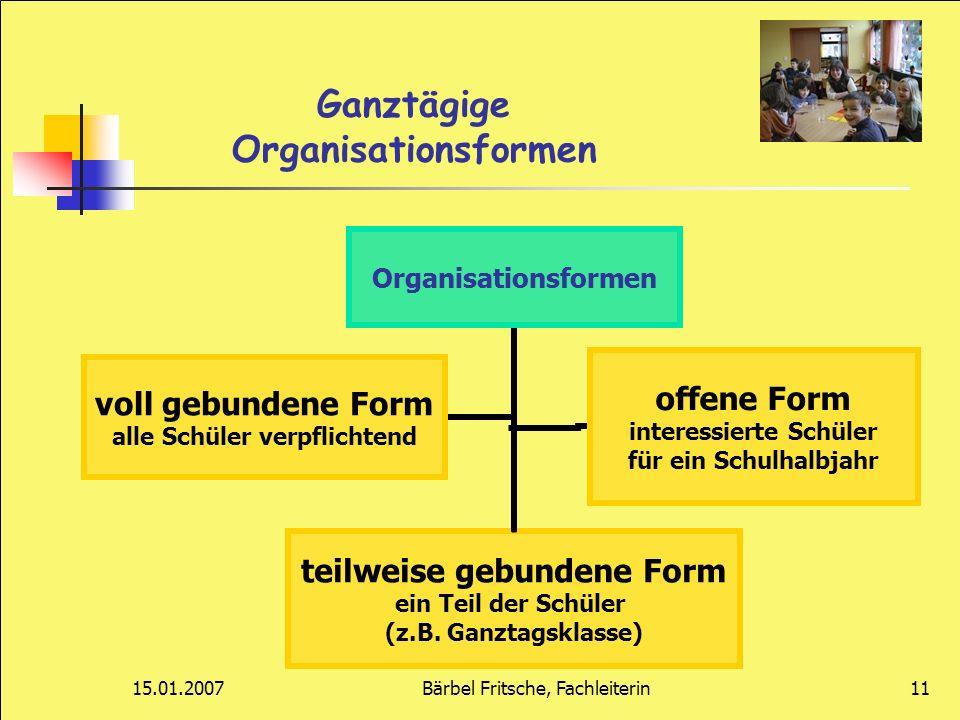 Ganztägige Organisationsformen