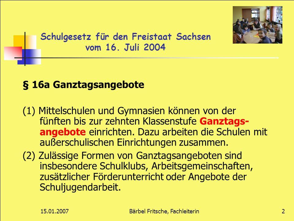Schulgesetz für den Freistaat Sachsen vom 16. Juli 2004
