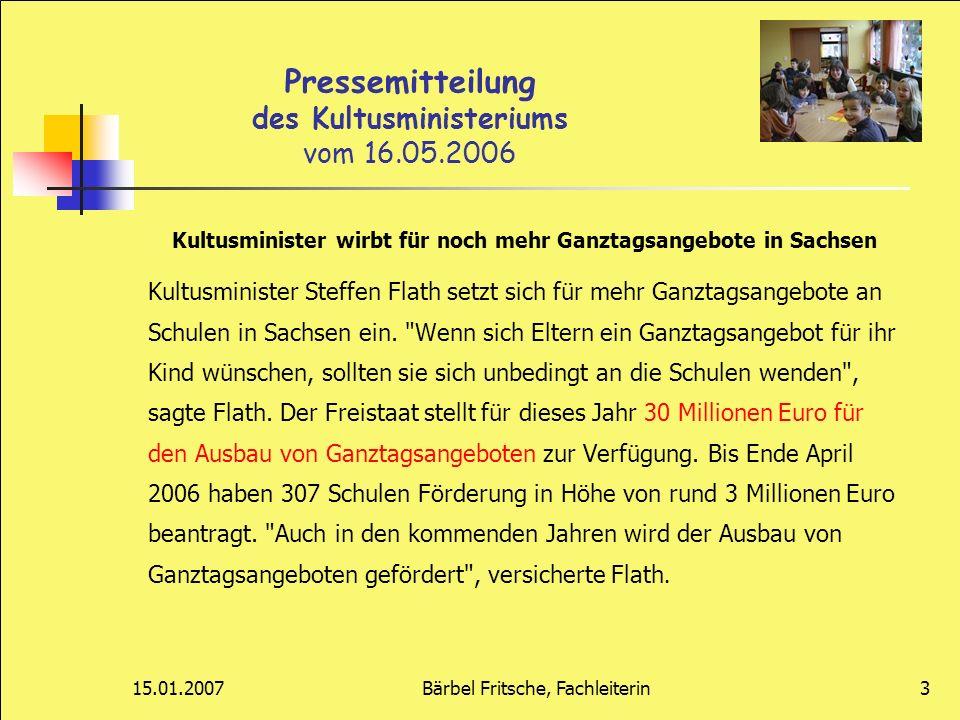 Pressemitteilung des Kultusministeriums vom 16.05.2006