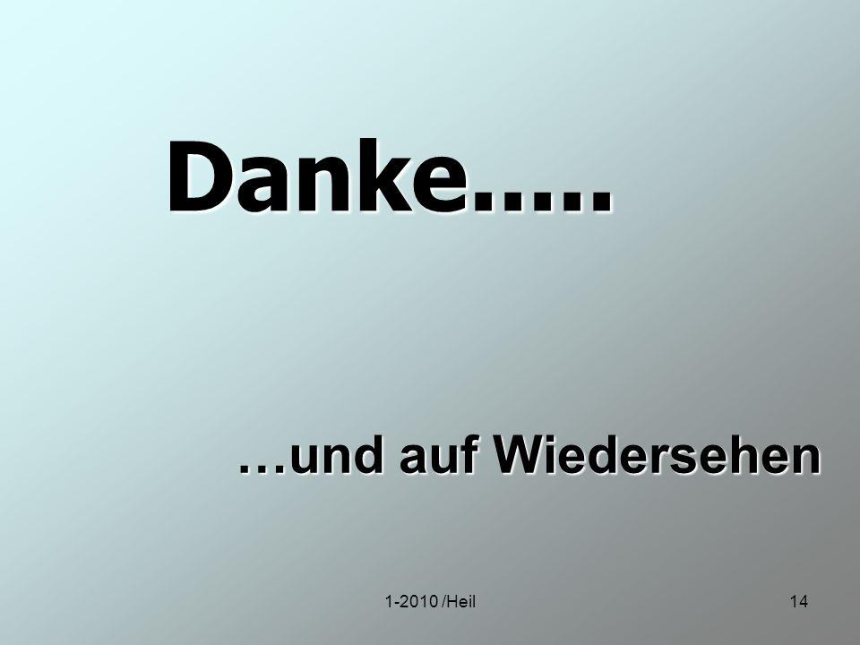 Danke..... …und auf Wiedersehen 1-2010 /Heil