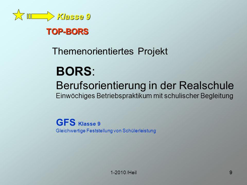 BORS: Berufsorientierung in der Realschule Themenorientiertes Projekt