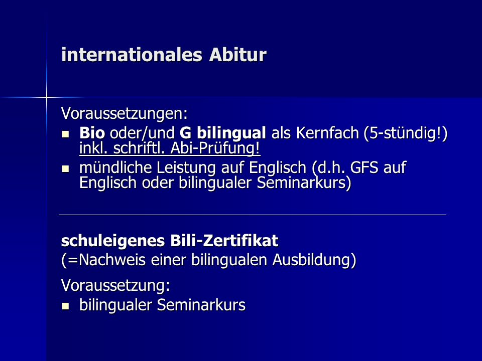 internationales Abitur