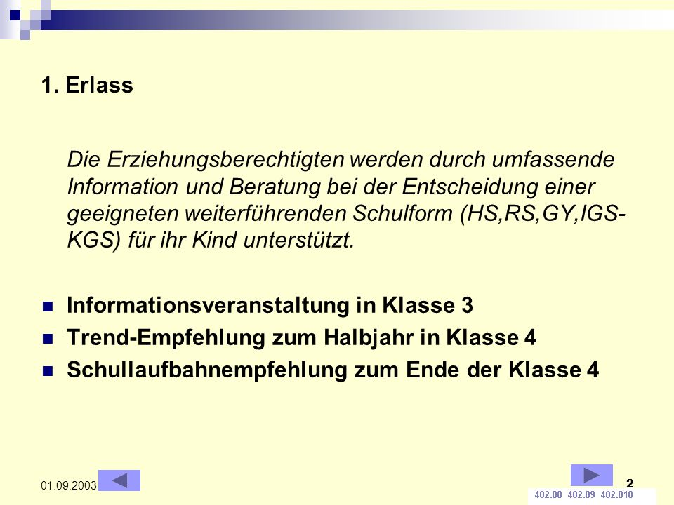 Informationsveranstaltung in Klasse 3